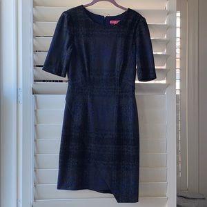 Grey/Black/Blue short sleeve dress